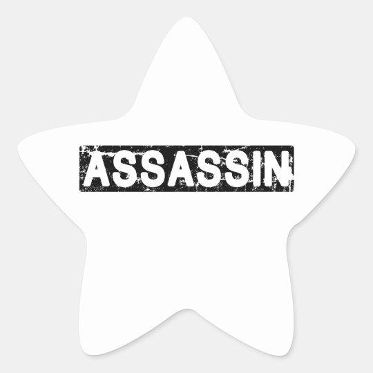Asesino Pegatina En Forma De Estrella