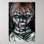 Asesino psico de la chaqueta recta para Halloween Poster