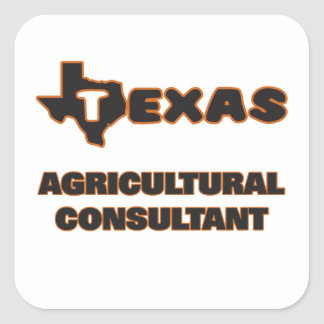 Asesor agrícola de Tejas Pegatina Cuadrada