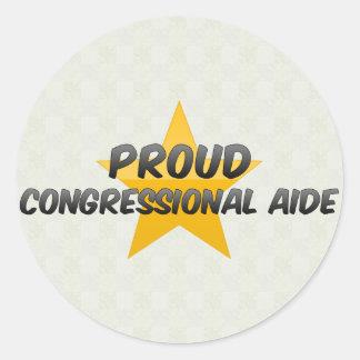 Asesor del Congreso orgulloso Pegatina Redonda