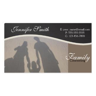 Asesoramiento de la familia tarjetas de visita