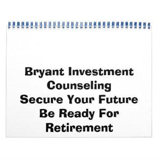 Asesoramiento de la inversión de Bryant Calendario De Pared