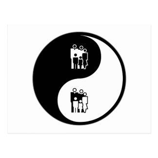 Asesoramiento de Yin Yang Postales