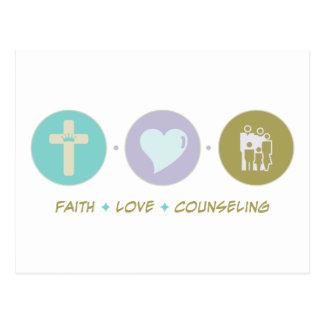 Asesoramiento del amor de la fe postales
