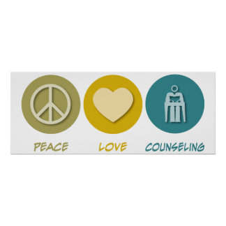 Asesoramiento del amor de la paz posters