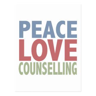 Asesoramiento del amor de la paz postal