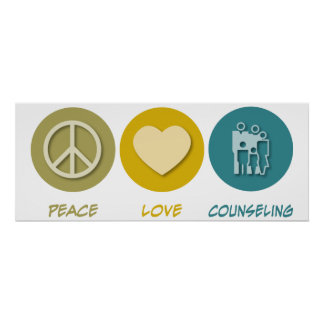 Asesoramiento del amor de la paz póster