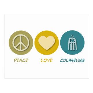 Asesoramiento del amor de la paz tarjeta postal