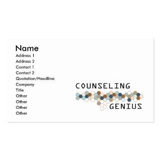 Asesoramiento del genio tarjetas de visita