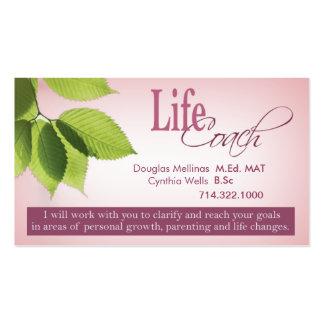 Asesoramiento espiritual de las metas personales d tarjeta de negocio