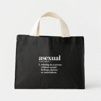 asexual definition - defined lgbtq terms - LGBT De Mini Tote Bag