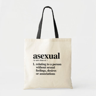 Asexual Definition - Defined LGBTQ Terms - Tote Bag