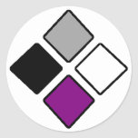 Asexual diamond stickers