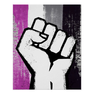 ASEXUAL FIST POSTER