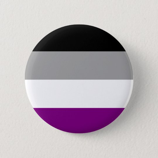 Asexual Flag Badge Button