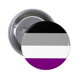 Asexual Flag Badge 2 Inch Round Button