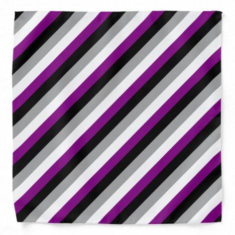 Asexual flag bandana
