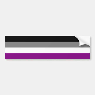 Asexual flag bumper sticker