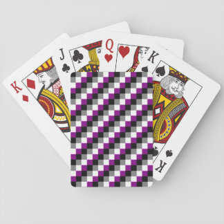asexual flag checkerd playing cards