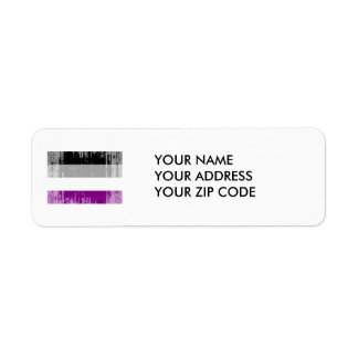 ASEXUAL FLAG DISTRESSED LABELS