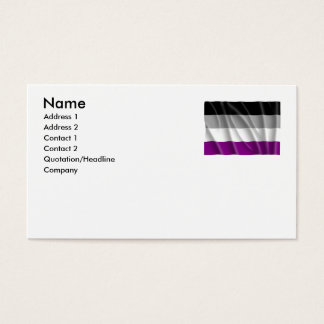 ASEXUAL FLAG FLYING -.png Business Card