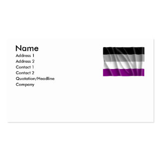 ASEXUAL FLAG FLYING -.png Double-Sided Standard Business Cards (Pack Of 100)