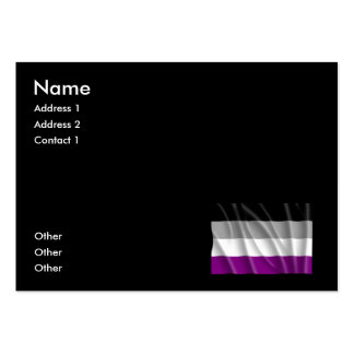 ASEXUAL FLAG FLYING -.png Large Business Cards (Pack Of 100)