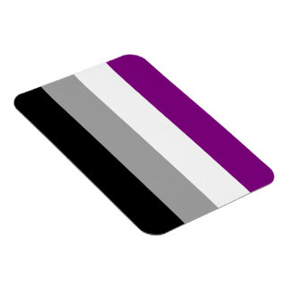 Asexual flag magnet