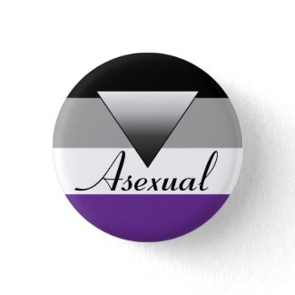 Asexual Flag & Triange Badge Pin button