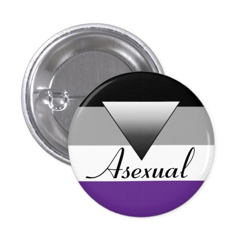 Asexual Flag & Triange Badge Pin
