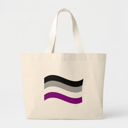 ASEXUAL FLAG WAVING CANVAS BAGS