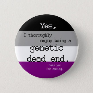 Asexual Genetic Dead End Pin