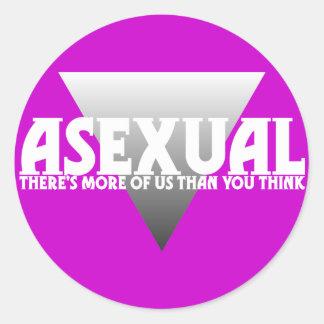 Asexual: Hay más de nosotros que usted piensa Pegatina Redonda