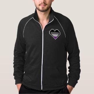 Asexual heart pride Pixel art Jacket