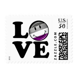 Asexual Love Pride Flag Postage