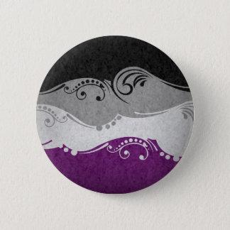 Asexual Ornamental Flag Button