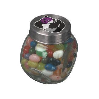 Asexual Panda LGBT Pride Glass Candy Jars