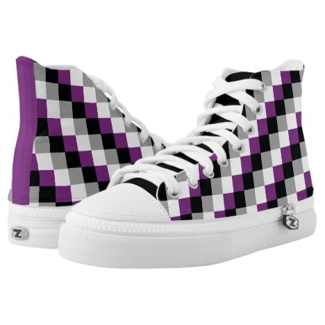 Asexual Pixel Squares LGBT Pride High-Top Sneakers