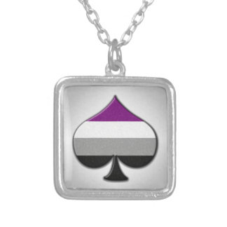 Asexual Pride Ace Symbol Silver Plated Necklace