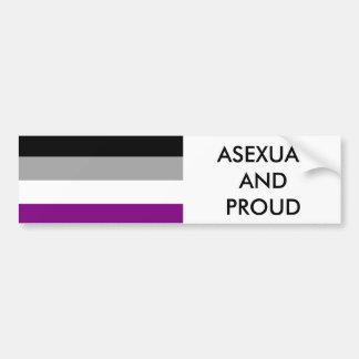 Asexual Pride Bumper Sticker 1 Car Bumper Sticker