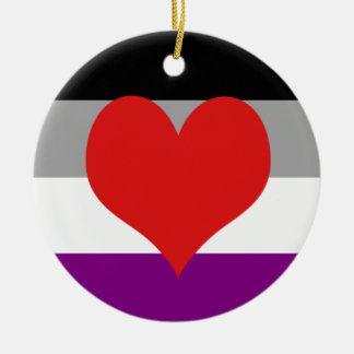 Asexual Pride Ceramic Ornament