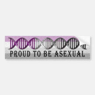 Asexual Pride DNA Bumper Sticker