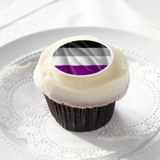 Asexual Pride Edible Frosting Rounds