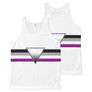 Asexual Pride Flag All-Over Print Tank Top