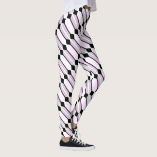 Asexual Pride Flag Art by EelKat Wendy C Allen Leggings