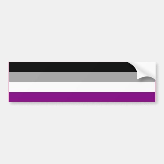 ASEXUAL PRIDE FLAG BAR BUMPER STICKER
