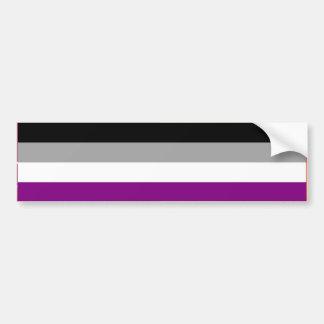 ASEXUAL PRIDE FLAG BAR BUMPER STICKER