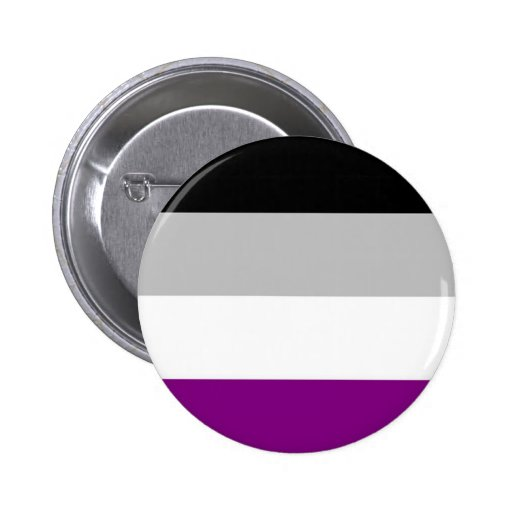 Asexual Pride Flag Pinback Buttons