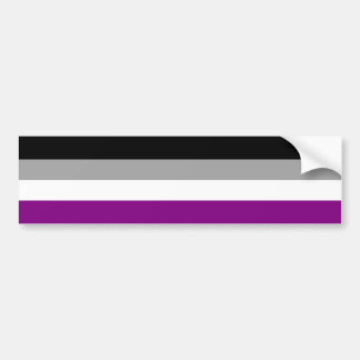 Asexual Pride Flag Car Bumper Sticker