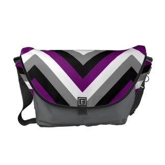 Asexual Pride Flag Chevron Messenger Bags